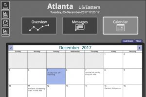 Dashboard Calendar Section