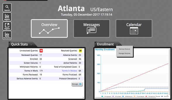 Dashboard Overview Section